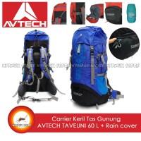 Carrier Keril Tas Gunung AVTECH TAVEUNI 60 L Free Rain Cover