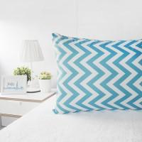 [PP] Pillow Cover / Sarung Bantal / ZIgzag Tosca