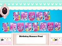 Banner Happy Birthday / Ultah / Bunting Flag Poni
