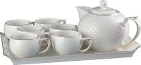 TEA SET KERAMIK 9PCS CAPODIMONTE/TEA SET CANTIK/TEA SET UNIK