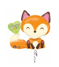 Welcome Baby Fox Balon Foil / Baby Shower
