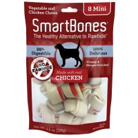 Smartbones mini 8pc/Snack anjing /Snack Tulang