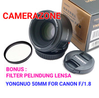 YONGNUO 50MM FOR CANON F/1.8 FREE FILTER