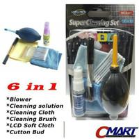 Pembersih Lensa Kamera + Blower 6 in 1 Super Cleaning Set - MTC-MCS-01