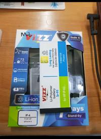 BATRE BATERAI BATTERY DOUBLE POWER VIZZ IPHONE 6 IPHONE 6G