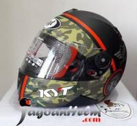 KYT Helm XROCKET #3   Black Doff Green Red FLUO   X ROCKET Ringan