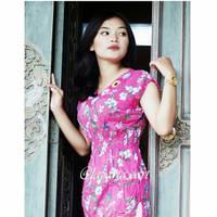 Atasan/ Blus V neck Wanita Kombinasi Rayon Rajut Murah Meriah