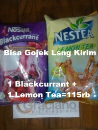 Paket Nestle Blackcurrant + Nestea Lemon Tea Promo Murah
