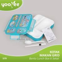 Yooyee - Kotak Makan Grid Bento Lunch Box 6 Sekat Anti Bocor