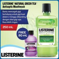 Listerine Green Tea 250ml [Free Multi Protect 80ml]