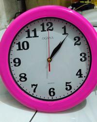 Jam Dinding Merk OGANA Polos Diameter 30Cm