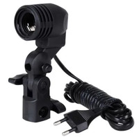 Holder Lampu E27 utk aplikasi Payung Foto Studio - Black
