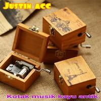 murah kotak musik mini kayu-wooden music box-souvenir keren