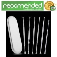 Set Pembersih Telinga Korek Kuping 6PCS - Silver
