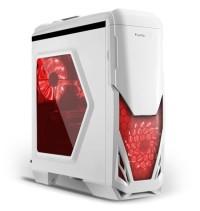 Casing PC CPU SEGOTEP GAMING CASE BLADE -WHITE- Side Window - LED 12