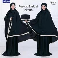 Mukena Renda Polos Katun Rayon Solo Super Jumbo by Aliyah