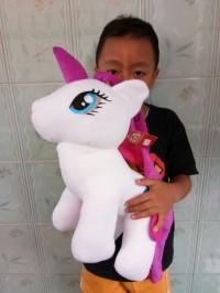 Boneka Kuda Pony Lucu Ukuran 50cm - Boneka Unicorn Lucu Murah
