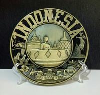 Pajangan piring Indonesia souvenir dari negara Indonesia