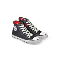 Sepatu Kets / Sneakers Kasual Pria kanvas hitam Java Seven LST 102 ori