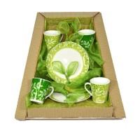 Parcel Mug set  for 4 Forest Light Green 6 pc Parsel Lebaran-Keramik