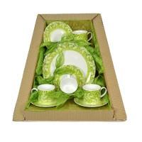 Parcel Teaset  for 4 Forest Light Green 9 pc Parsel Lebaran-Keramik