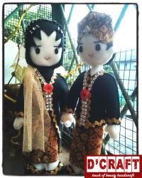 Boneka Pengantin Flanel (1)