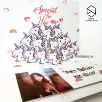 Unicorn Kartu Ucapan Ulang Tahun Pop Up Greeting Card Kotak Hadiah
