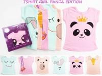 Kazel Kaos Atasan / Tee Girl / Tshirt Edisi Panda