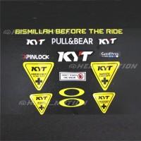 Paket Stiker Visor Helm Bismillah Before The Ride KYT KBC INK NHK