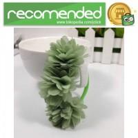 Karet Ikat Rambut Model Flower 1PCS - Hijau