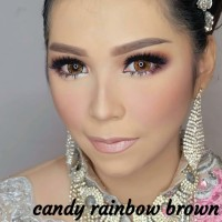 Softlens Pengantin Candy Rainbow Brown (Coklat Terang)