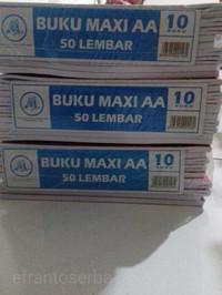 Buku tulis isi 50 lembar seri Dunia Kampus merk Maxi AA ( BT - 12-1 )