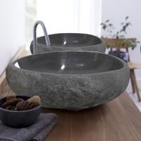 Wastafel Batu Alam Ukuran Besar ( Natural Colour ) / Natural Sink