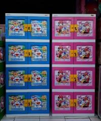 lemari Plastik Doraemon 3D Naiba 4 susun