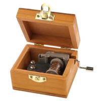 Kotak Musik Klasik / Vintage Wooden Music Box - Hadiah/ Kado/ Suvenir