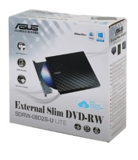 Portable Asus External Slim DVD Optical Drive SD RW 08D2S-U LITE