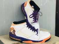 Nike Air Jordan Flight Orgin 2 : white, orange, purple.
