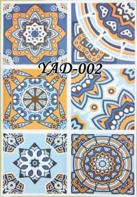 YAD 002 STICKER TEGEL 45CM X 30 CM ISI 6 KOTAK FRESH BLUE TILES