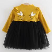 Dress motif kelinci dengan rok tutu for baby girl