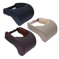 Bantal Mobil Leher dan Kepala Dakron Kulit / Car Pillow Head Neck Rest