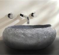 Wastafel Batu Alam Tanpa Lis (Bibir) / Natural Wash Basin