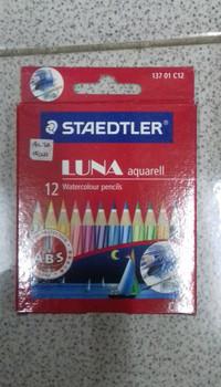 Pensil Warna Luna Aquarell isi 12 Pcs merk Staedtler