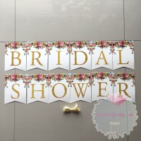 Banner Bunting Flag Bridal Shower Bride