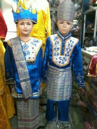Pakaian baju adat anak bangka belitung size L - XL Lk/Pr