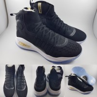 Sepatu Basket Under Armour Stephen Curry 4 Mid More Dimes Black White
