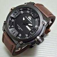 Jam Tangan Pria / Cowok Quiksilver Quicksilver Kulit Hitam