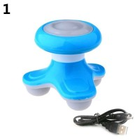 Mini Wave Vibrating Massager Electric Handled Battery USB Full Body Ma