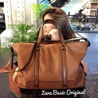 Tas Wanita Zara Basic OriginaL New Restok Barcode!!Camel,Hitam,Blue!