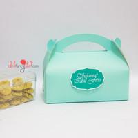 Tosca gable box / kotak /goodie bag kue lebaran / hampers / biru
