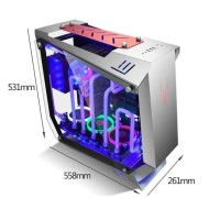 Casing PC CPU Gaming Cube Phoenix - Aluminium + Tempered Glass Case